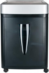 Шредер Office Kit S145 2x15 (секр. 4, 2х15, 8лиcт, 20 литр., Уничт. скрепки, скобы, пл.карты, CD) цены