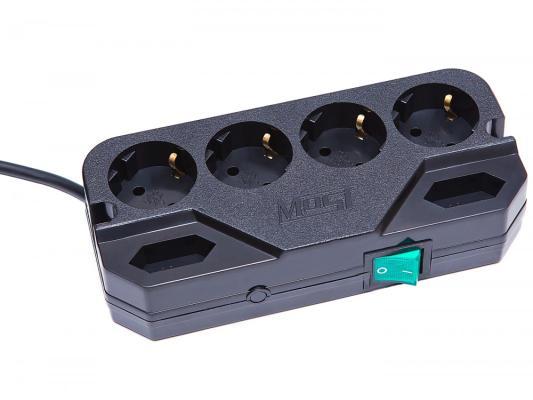 Сетевой фильтр MOST Compact СRG черный 6 розеток 2 м сетевой фильтр most real rg 6 розеток 2 м черный