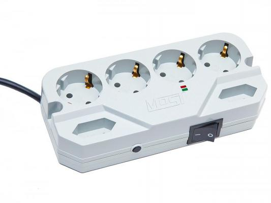 Сетевой фильтр MOST Compact СHV белый 6 розеток 2 м