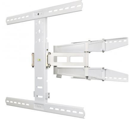 цена на Кронштейн HAMA H-108759 XL белый для ЖК ТВ от 37 до 70 настенный наклон 12° поворот 180° VESA 700x500 max 35 кг