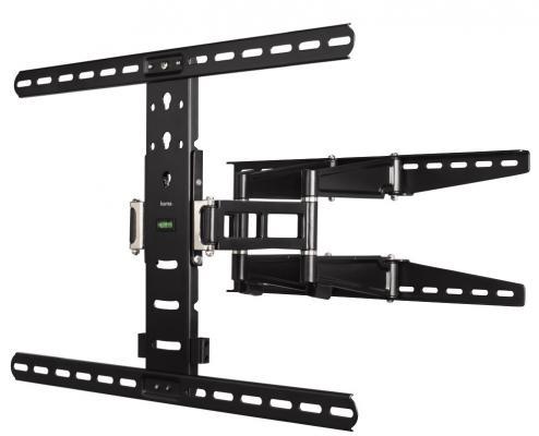 "Кронштейн HAMA H-108757 XL черный для ЖК ТВ до 65"" настенный наклон 12° поворот 180° VESA 600x500 max 35 кг"