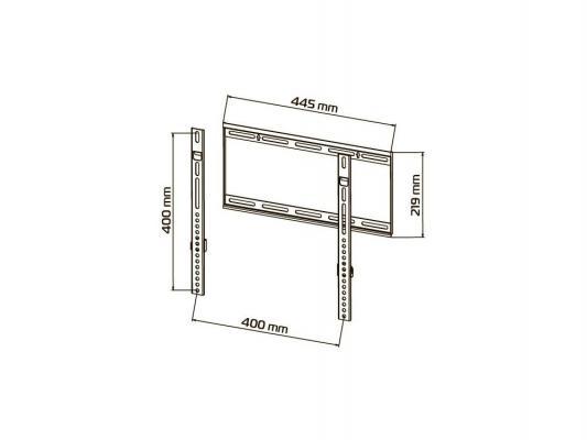 "Кронштейн Tuarex OLIMP-7015 Серый LCD LED PLASMA 17""-45"" настенный 15мм от стены VESA 400x400 max 50кг"