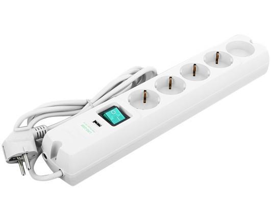 Сетевой фильтр MOST Lite LRG-USB белый 5 розеток 1.7 м