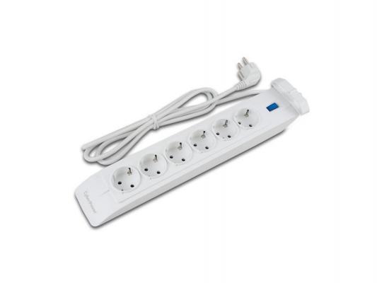 Сетевой фильтр CyberPower SB0602BA-DE 5м 6 розеток белый