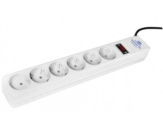 Сетевой фильтр ZIS Pilot 15A белый 6 розеток 5 м цены онлайн