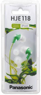 Наушники-затычки Panasonic RP-HJE118GUG зеленый наушники panasonic rp hje118gug зеленый