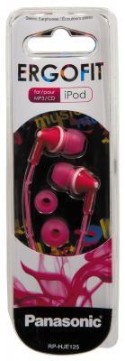 Наушники-затычки Panasonic RP-HJE125E-P розовый наушники затычки panasonic rp hje125e v фиолетовый