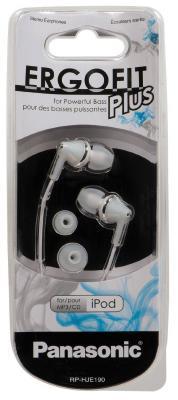 Наушники-затычки Panasonic RP-HJE190E-W белый наушники panasonic rp hje190e a синий