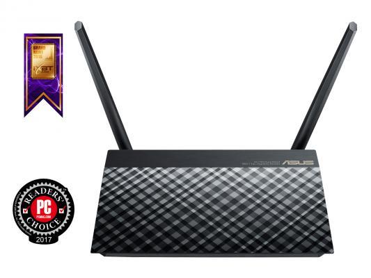 Беспроводной маршрутизатор ASUS RT-AC52U B1 802.11aс 733Mbps 5 ГГц 2.4 ГГц 4xLAN USB 2.0 черный маршрутизатор asus rt n66w 802 11abgn 900mbps 5 ггц 2 4 ггц 4xlan usb3 0 белый