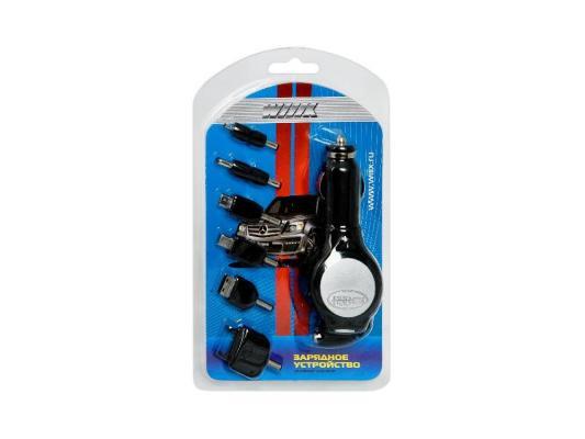 Автомобильное зарядное устройство Wiiix CH-U6-1 miniUSB 1A черный