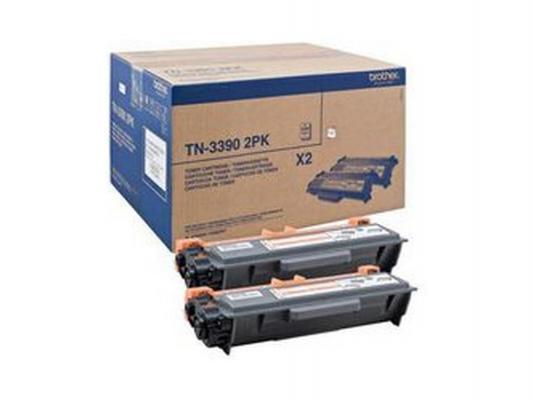 Лазерный картридж Brother TN-3390 чёрный для DCP8250 MFC8950 2шт.в упаковке лазерный картридж brother tn 230c голубой для hl3040 dcp9010cn mfc9120cn