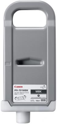 Струйный картридж Canon PFI-701 MBK черный матовый iPF8000/8000S/8100/9000/9000S canon pfi 206 mbk matte black