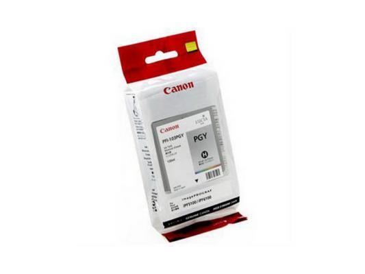 Струйный картридж Canon PFI-103 PGY фото серый для iPF5100 цена в Москве и Питере