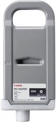 Струйный картридж Canon PFI-703 MBK черный матовый для iPF815/825 набор картриджей canon pfi 703 c для ipf815 825 голубой 3шт 2964b003