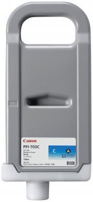 Струйный картридж Canon PFI-703 C голубой для iPF815/825 набор картриджей canon pfi 703 c для ipf815 825 голубой 3шт 2964b003