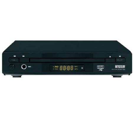 Проигрыватель DVD Mystery MDV-728U караоке черный dvd плеер mystery mps 105