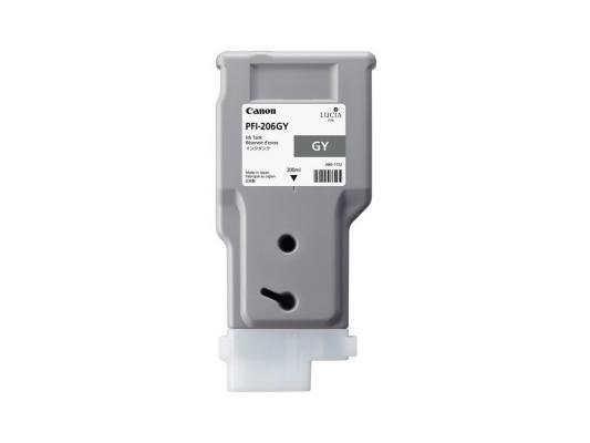 Струйный картридж Canon PFI-206 GY серый для iPF6400/6450 canon pfi 206 b 5311b001