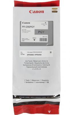 Струйный картридж Canon PFI-206 PGY фото серый для iPF6400/6450 canon pfi 206 b 5311b001