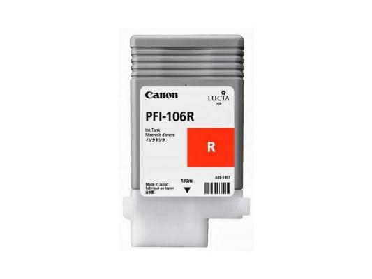 Струйный картридж Canon PFI-106 R красный для iPF6400/6450 картридж canon red pfi 206r красный