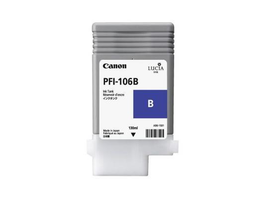 Струйный картридж Canon PFI-106 B синий для iPF6400/6450 картридж canon pfi 206 bk для ipf6400 6450 черный