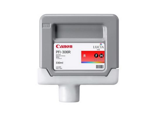 Струйный картридж Canon PFI-306 R красный для iPF8400/9400 картридж canon red pfi 206r красный