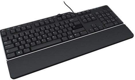 Клавиатура проводная DELL KB522 USB черный клавиатура dell kb522 wired business multimedia keyboard black usb 580 17683