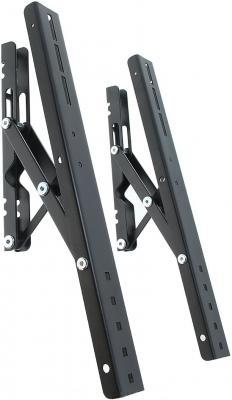 """все цены на  Кронштейн Holder PTS-4011 черный-серебристый для ЖК ТВ 37""""-65"""" настенный от стены 28мм наклон -15° до 60 кг  онлайн"""
