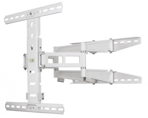 "Кронштейн HAMA H-108758 XL белый для ЖК ТВ от 23"" до 56"" настенный наклон -12° поворот 180° VESA 400x400 max до 35 кг"