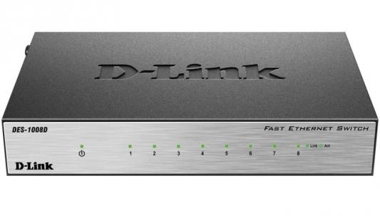 Коммутатор D-Link (DES-1008D/L2A) 8-портов 10/100Mbit/s UNMANAGED