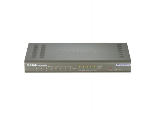 Маршрутизатор D-Link DVG-5008SG 8 FXS VoIP Gateway 4 10/100BASE-TX LAN, 1 10/100BASE-TX WAN ip телефон d link dph 120s f1a ip телефон с 1 wan портом 10 100base tx 1 lan портом 10 100base tx