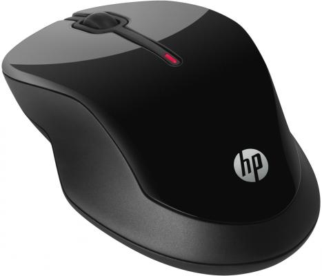 Мышь беспроводная HP X3500 H4K65AA чёрный USB + радиоканал мышь hp x3500 black h4k65aa