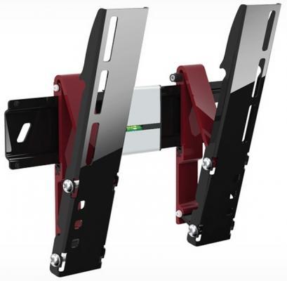 """Кронштейн Holder LEDS-7012 черный для ЖК ТВ 26-42"""" настенный от стены 15мм наклон 15° до 30 кг"""