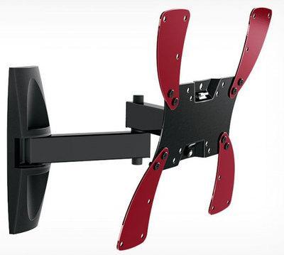Кронштейн Holder LCDS-5046 черный для ЖК ТВ 15-40 настенный от стены 510мм наклон +15°/25° поворот 350° до 30кг тумба holder albero tv 37140 н черная