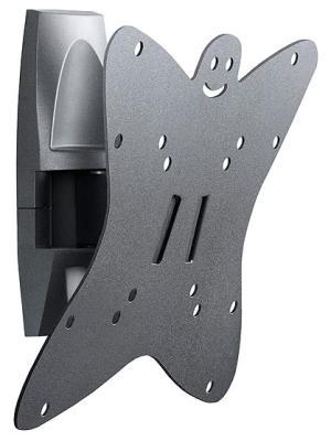 """Кронштейн Holder LCDS-5036 серый для ЖК ТВ 19-37"""" настенный от стены 91мм наклон +6°/-15° поворот 135° до 30кг стоимость"""