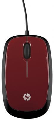 Мышь проводная HP X1200 Flyer красный USB H6F01AA мышь hp x1200 wired blue mouse h6f00aa abb