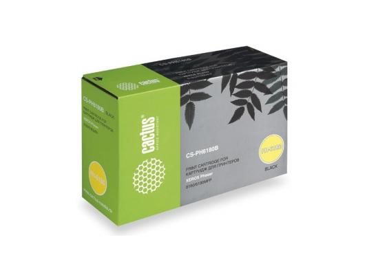 Тонер-картридж Cactus CS-PH6180B черный для Xerox Phaser 6180/6180 mfp 8000стр. cactus cs ph6180b 113r00726