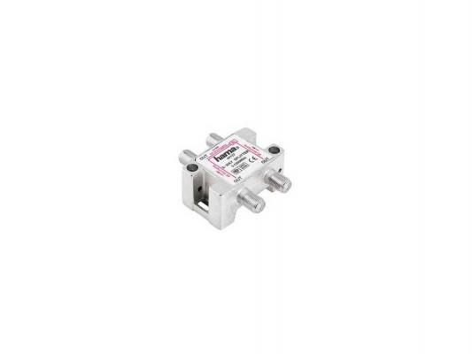 Антенный разветвитель HAMA H-44127 SAT (КРАБ) 1->3 F-штек. (f) 5-2300 МГц 75 Ом серебристый