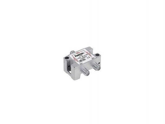 Антенный разветвитель HAMA H-44126 SAT (КРАБ) 1->2 F-штек. (f) 5-2300 МГц 75 Ом серебристый