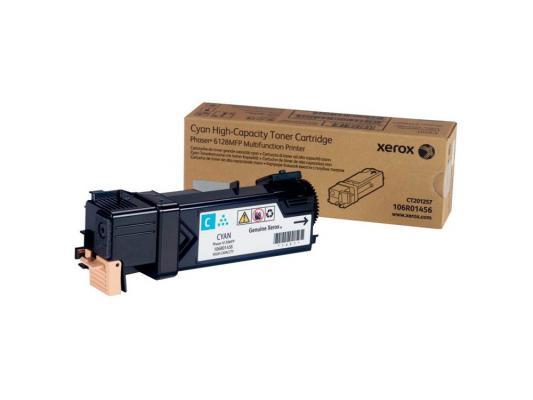Тонер-Картридж Xerox 106R01456 для Phaser 6128 MFP голубой 2500стр картридж xerox 113r00692 phaser 6120 тонер картридж черный бол емкости
