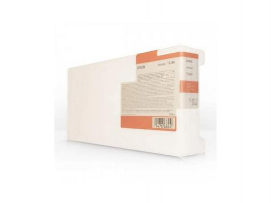 Картридж Epson C13T624800 I/C для Epson Stylus Pro GS6000 оранжевый картридж epson c13t624100 i c для epson stylus pro gs6000 photo black черный