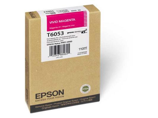 Картридж Epson C13T605300 для Epson Stylus Pro 4880 vivid magenta пурпурный картридж epson c13t580300 для stylus pro 3800 magenta пурпурный
