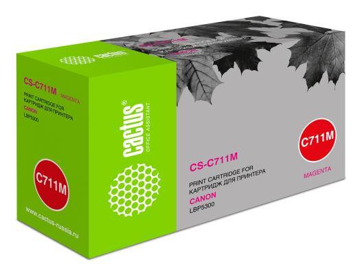 Тонер-картридж Cactus CS-C711M пурпурный для Canon LBP5300 6000стр. видеорегистратор artway av 711 av 711