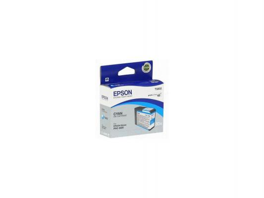 Картридж Epson T580200 для Epson Stylus Pro 3800 голубой картридж epson stylus pro 3800 c13t580700