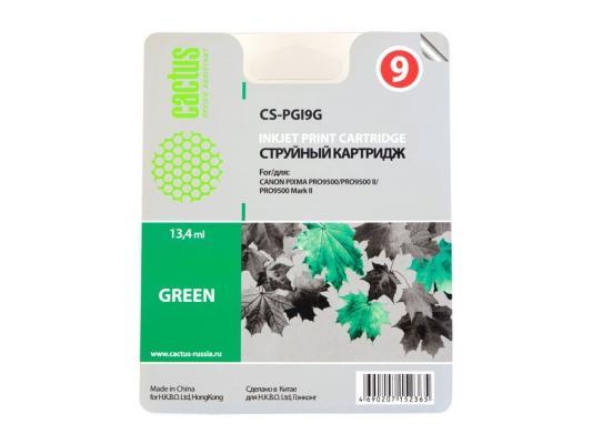 Струйный картридж Cactus CS-PGI9G зеленый для Canon Pixma X7000/MX7600/PRO9500 чернильный картридж canon pgi 29pm