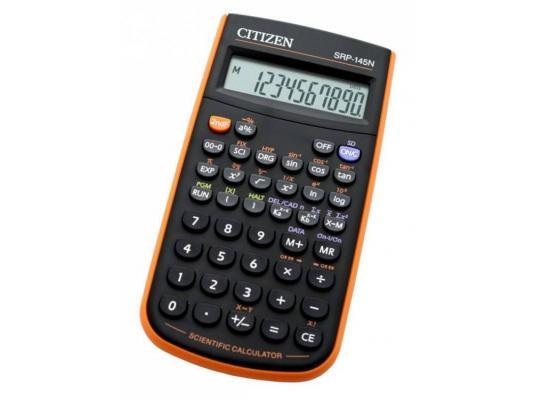 Калькулятор Citizen SRP-145NOR питание от батареи 8+2 разряда научный 86 функций черный/оранжевый