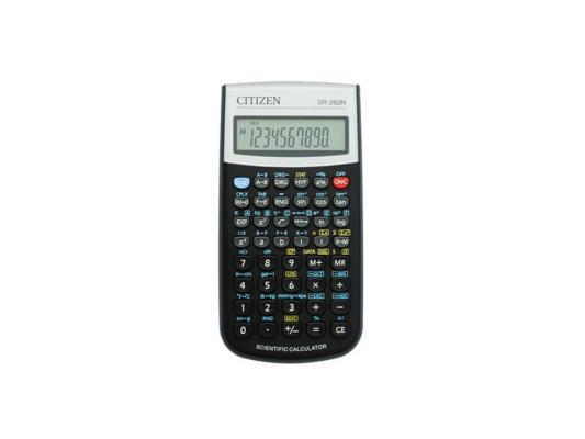 Калькулятор Citizen SR-260N питание от батарейки 10+2 разряда научный 165 функций черный