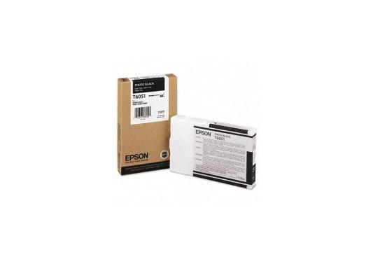 Картридж Epson C13T605100 для Epson Stylus Pro 4880 photo black черный картридж epson t009402 для epson st photo 900 1270 1290 color 2 pack