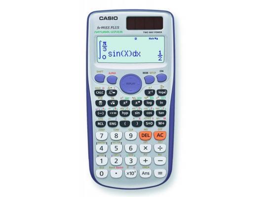 Калькулятор Casio FX-991ESPLUS двойное питание 10+2 разряда научный 417 функций серый