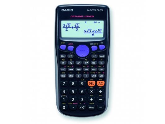 Калькулятор Casio FX-82ESPLUS питание от батареи 10+2 разряда научный 252 функций черный калькулятор casio fx 82sxplus питание от батареи 12 разряда научный 177 функций синий