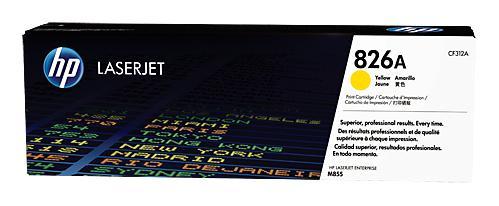 Картридж HP CF312A 826A для HP Color LaserJet Enterprise M855 желтый 31500стр принтер hp color laserjet enterprise m652dn